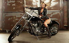 Bike and Girl wallpapers 4K Ultra HD