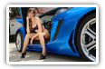 Lamborghini cars and girls desktop wallpapers 4K Ultra HD