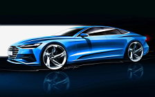 Audi A7 Sportback car sketch wallpapers 4K Ultra HD