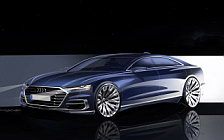Audi A8 L car sketch wallpapers 4K Ultra HD