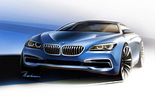 BMW 6-Series Coupe car sketch wallpapers 4K Ultra HD