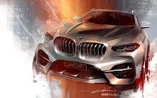 BMW X3 car sketch wallpapers 4K Ultra HD