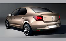 Dacia Logan car sketch wallpapers 4K Ultra HD