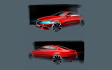 Mercedes-Benz C-class Coupe car sketch wallpapers 4K Ultra HD