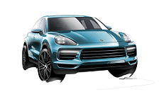 Porsche Cayenne car sketch wallpapers 4K Ultra HD