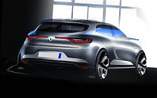 Renault Megane car sketch wallpapers 4K Ultra HD