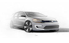Volkswagen e-Golf car sketch wallpapers 4K Ultra HD